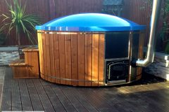 Fiber glass hot tub