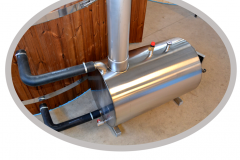 Outside stainless steel round heater