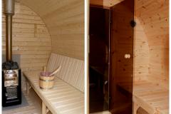 sauna barrel inside