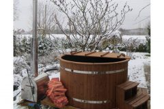 Hottub with outside heater, Thermowood HT