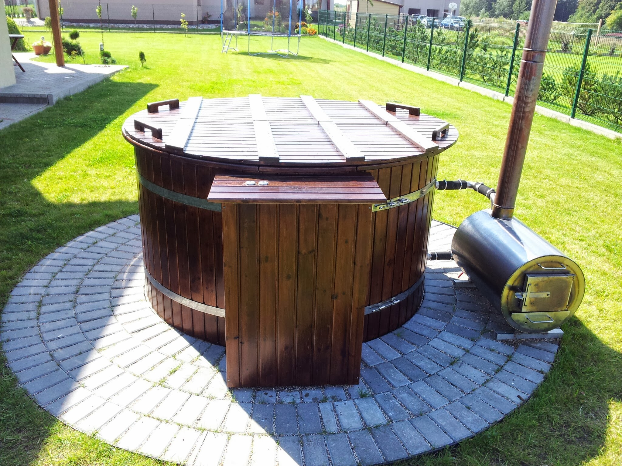 models larch tub wood heating hot system with barrel
