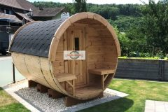 2,27 sauna barrel with thermowood