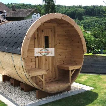 2,27 sauna barrel with thermowood