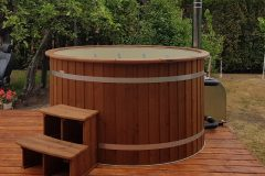 Plastic Hot Tubs with outside heaters