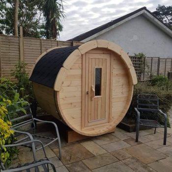 Pine wood barrel sauna 1.7m